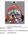 Avengers?15.5寸 EVA Rolling Backpack?805316