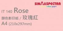Sinar Spectra A4 80g 顏色影印紙 / 玫瑰紅 / 140