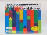 日本櫻花牌 SAKURA FY-18 可擦臘筆(18色鐵盒裝)