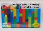 日本櫻花牌 SAKURA FY-24 可擦臘筆(24色鐵盒裝)