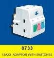 豐葉牌 FYM 8733 13AX3 萬能蘇(有燈,獨立細開關)