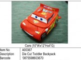 Cars (Lightening Mcqueen)?Cars 12寸 Diecut Backpack?A00367