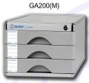 GLOBE GA200(M) 鋁塑三層有鎖桌上A4文件櫃_3M