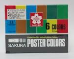 日本櫻花牌 SAKURA POCT-6P 廣告彩(6色紙盒裝)