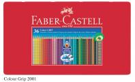 FABER 112435 GRIP 36色三角水溶木顏色(鐵盒裝)