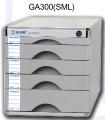 GLOBE GA300(SML) 鋁塑五層有鎖桌上A4文件櫃_1S+3M+1L