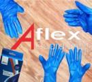 Aflex 藍色 TPX 即用即棄一次性膠手套100隻裝  8M/9/L