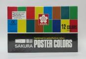 日本櫻花牌 SAKURA POCT-12P 廣告彩(12色紙盒裝)