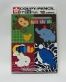 日本櫻花牌 SAKURA XFY-12 可擦臘筆(12色紙盒裝)