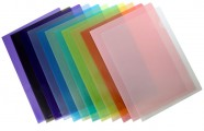 F4 Easymate 透明膠質文件套12個/包 /  藍色