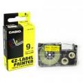 Casio 9mm (XR9YW1)塑膠標籤帶
