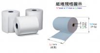 感熱紙卷 2卷/筒 57mm x 50mm