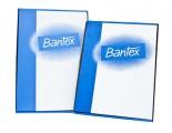 Bantex 2049 磨沙面顏色邊頂開文件保護套 / 紅色