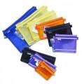 雙層紗布拉鏈袋 <FC911> A4/ 260mm x 335mm  - Blue