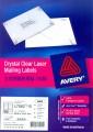AVERY A4 全透明鐳射打印標籤 LABEL 10張裝