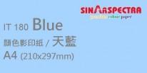 Sinar Spectra A4 80g 顏色影印紙 / 天藍 / 180
