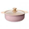 IRIS OHYAMA Ricopa IH 電磁爐專用鍋 香港行貨 粉紅色